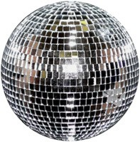 A 12 inch Mirror Ball for discos